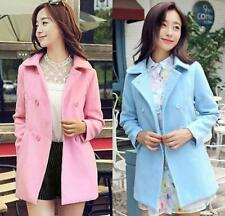 Sweet girls Womens Casual Slim Fit Double Breasted Trench Coat Jacket Peacoat