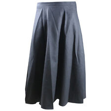 Lady Winter Long Maxi Woolen Thicken Warm A-line Pleated Expansion Skirts Skirt