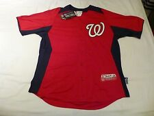NWT Majestic Washington Nationals Red Batting Practice Jersey (Men XL or 46)