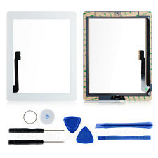 For iPad 3 Front Panel Lens Touch Screen Glass Replacement Digitizer+Home Button