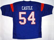 Kevin Thad Castle 54 Blue Mountain State Movie TV Football  Shirt Blue Sewn New