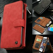Genuine Leather Case Cover Zipper Wallet Card Multifunction For iPhone 6/6S Plus