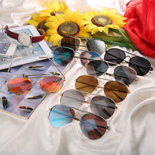 Round Stylist Color Film Reflective Fashionable Unisex Sunglasses For Driving L0