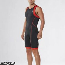 2XU Men's Active Trisuit Black Desert Red Triathlon Suit mt3105d RRP$150