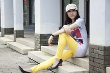 Yellow S Women Sexy Pencil Pants Slim Fit Skinny Stretch Jeans Trousers Hot QKC