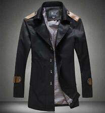Mens Plus Size Coat Single Breast Slim Fit Casual long trench 8XL overcoat