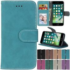 Flip Leather Retro Wallet Cards Stand Magnetic Case Cover For iPhone 7 / 7 Plus