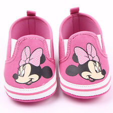 Baby Infant Toddler Shoes Boys Girls Canvas Soft Sole Sneaker Shoes Size 0-18M