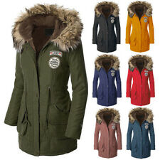 Womens Warm Long Coat Fur Collar Hooded Quilted Jacket Winter Parka Outwear Snug