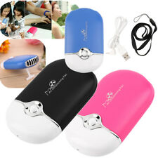 New Rechargeable Portable Handheld Air Conditioning Cooling Fan USB Cooler lot D