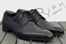 DIOR HOMME 2500$ New Blue Python Leather Lace Up Goodyear Derby Dress Shoes