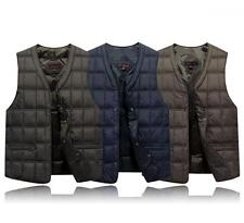 Mens winter Slim fit Duck Down Puffer Casual Coats vest sleeveless waistcoat