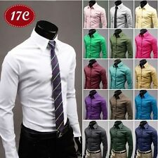 Fashion Mens Luxury Stylish Dress Slim Fit T-Shirts Casual Long Sleeve Hot tr