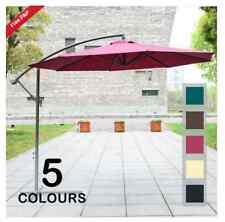 3m Garden Parasol Sun Shade Patio Banana Hanging Rattan Set Umbrella Cantilever