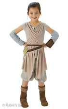 Girls Disney Star Wars Rey Deluxe Fancy Dress Costume Girls Disney Costumes