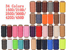 Cord Waxed Thread Wax Bracelet Jewelry Linen Spool Leather Craft Sewing 260m XF