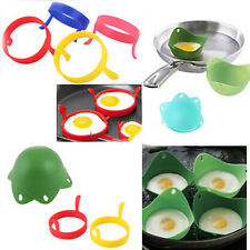 Utility 2X Kitchen Silicone Fried Fry Frier Oven Pancake Egg Poach Mould HJ