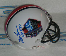 WILLIE BROWN SIGNED AUTOGRAPHED HALL of FAME MINI HELMET - Oakland Raiders