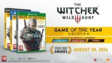 The Witcher 3 Wild Hunt Game Of The Year Award Winner for PC PS4 Xbox One Game