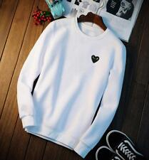 Men's Japan style Comme des Garcons Play CDG Sweater Jacket cute Heart  Coat