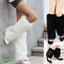 Fashion Boot Cuff Fluffy Soft Furry Faux Fur Leg Winter Warmer Boot Toppers 40cm