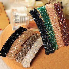 Fashion Women Girl Bling Headwear Crystal Rhinestone Hair Clip Barrette Hairpin