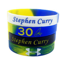 4pcs Curry Stephen 30 Rainbow Silicone Bracelet Wristband Basketball Sport