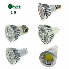Dimmable E27/E14/GU10/MR16 LED Spotlight Bulb 3/6W 9W 12W 15W SMD/COB Lamp Light