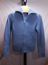 MISSES VERY THICK 100% CASHMERE ZIP FRONT SWEATER JACKET ANN TAYLOR SMALL S