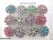 12 NEW ADJUST METAL MIX / VINTAGE STYLE RING / CLEAR MULTI COLOR STONE MIX DES