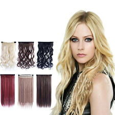 Fashion Womens Ladies Long Straight Curly 5 Clips Clip in Hair Extensions Hot