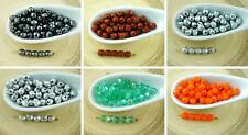 100pcs Czech Glass Round Faceted Fire Polished Beads Small Spacer 4mm