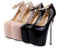 Ladies Sexy Platform Stiletto High Heel Ankle Strap Pumps night cluv prom Shoes