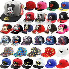 Children Superhero Hip Hop Flat Baseball Caps Kids Cartoon Mickey Snapback Hats