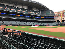 2 Tickets Astros Vs Royals FIELD BOX SECTION 127 ROW 7 AISLE SEATS! 4/9/17