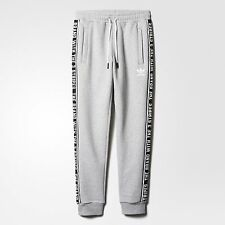 NEW MEN'S ADIDAS ORIGINALS ESSENTIALS SWEAT PANTS  [AY8268]  MEDIUM GREY HEATHER