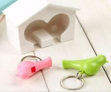 Home New Keychain Gadget 1 Pcs Holder Wall Birdhouse Hook Key Ring Lover Sparrow