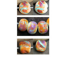 Daydream - Handmade Glass Lampwork Round Beads SRA MTO - Choose etched or glossy