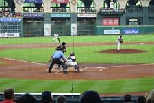 3 Tickets Astros Vs A's Row 2 DUGOUT BOX DIRECTLY BEHIND HOME PLATE! 4/30/17