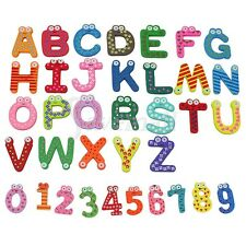26 Letters 10 Numbers Childrens Alphabet Spelling Fridge Magnets Education Toy