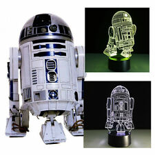 3D Night Light Lamp Colorful Star Wars R2-D2 R2 Robot Xmas Gift Home Room Decor