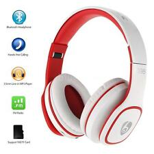 Wireless Bluetooth Stereo Foldable Headphone Headset MP3 FM Radio TF w/ Mic O0V8