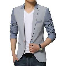 Mens Casual Slim fit Chic Wedding One Button formal Suit Blazer Coats Jackets