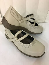 Apex Janice Mary Jane Y Strap Bone Leather Shoes Size 5-11 Wide With