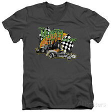 The Munsters - Munster Racing V-Neck Apparel T-Shirt - Charcoal