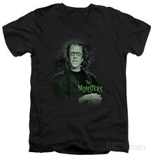 The Munsters - Man Of The House V-Neck Apparel T-Shirt - Black