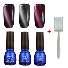 3pcs Cat Eye Magnetic Gel Nail Polish Soak Off UV LED Manicure free Magnet Slice