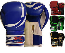 3X Sports Boxing Gloves KickBoxing Training Punching Mitts MMA Bag Muay Thai oz
