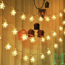 Best Snowflake Bling 4.7M 20LED Fairy String Lights Christmas Outdoor Xmas Party