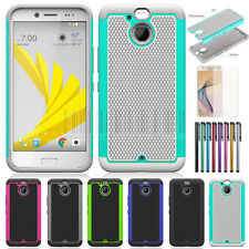 Heavy Duty Shockproof Hybrid Protective Case Cover + LCD For HTC Bolt / 10 Evo